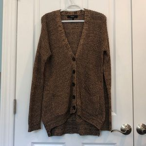 Forever 21 black & brown knit button Cardigan